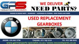 BMW USED REPLACEMENT GEARBOXES- USED PARTS / SPARES.