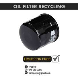 Oil filter recycling