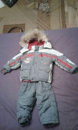 Детская зимняя куртка и комбинезон