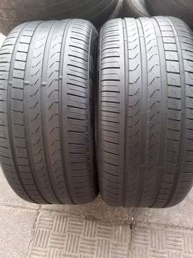 Two seconds hand tyres sizes 285/45/19 Piller scorpion veroe run flat