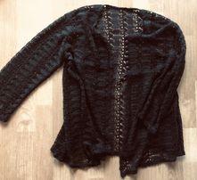 Czarny rozpinany sweterek rozmiar uniwersalny