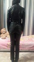 Кожаная куртка + штаны комплект байкерская