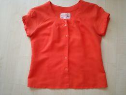 pomarańczowa bluzka z krótkimi rękawami rozmiar 40
