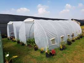 GREENHOUSE TUNNELS - EASILY ERECTED, PORTABLE. 3m, 4.5m, 6m, 10m, 12m.