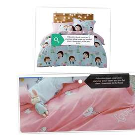 4 piece duvet cover, flat sheet and 2 pillow cases. New.