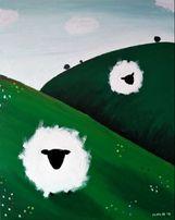 Obraz Owce 40 x 50 cm, akryl na płótnie