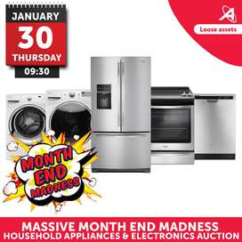 Massive Month End Madness Household Appliances & Electronics Auction