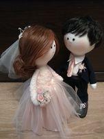 Куклы ручной работы, свадьба, тильда