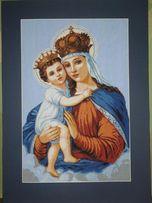 Matka Boska haft krzyżykowy