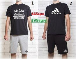 Мужской летний комплект шорты+футболка Adidas