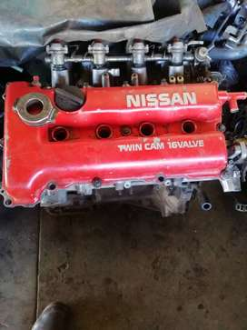 sr20de ENGINE with gearbox , ecu and wirering