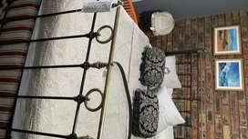 Antique Cast Iron and Copper bed