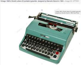 Vintage 1960's Olivetti typewriter with carybag for sale