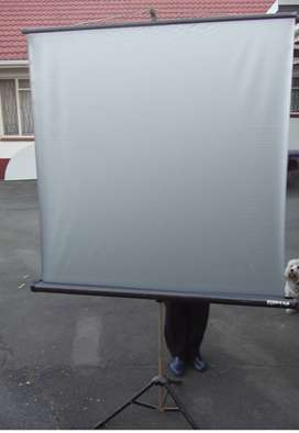Projector Screen on Stand - 1250 x 1250 mm