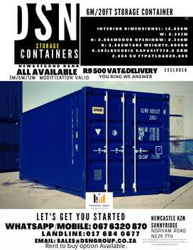 6M/20FT DSN CONTAINERS ON SALE