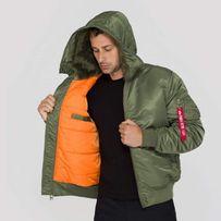 Куртка бомбер Alpha Industries MA-1 Hooded 158104/01 sage-green.