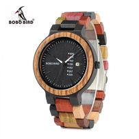 Elegancki drewniany zegarek męski, nowy Bobo Bird