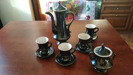 Керамический кофейный сервиз чёрный