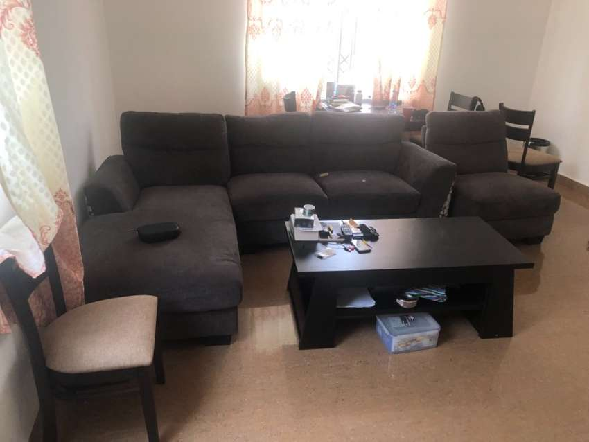Living room, dining table 4 chairs, night stand Italian bed 0