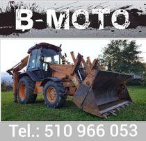 Usługi koparko-ładowarką B-Moto wynajem koparka