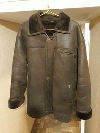 Зимнее мужское пальто, дубленка