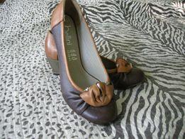Турецкие женские туфли 36р. новые, натуральная кожа.