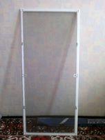 Маскитная сетка на евро окно металлопластиковых окон 546х1228. 1-шт.