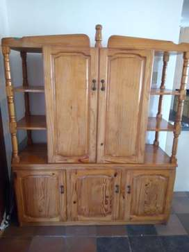 Solid Pine Wood - TV/Wall Unit