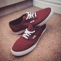 Image of Maroon Colored Vans