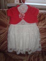 Нарядное платье+повязка в подарок
