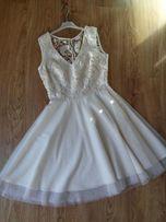 Sukienka eqru 38 koronka na ślub, wesele, koktajlowa, wieczorowa