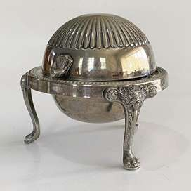 Vintage F. B. Rogers Domed Silver Plated Butter Dish