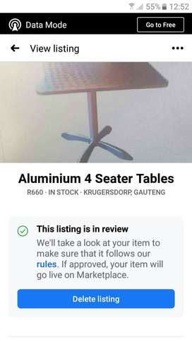 Aluminium Tables for sale