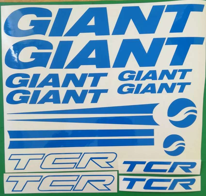 Giant TCR decals stickers vinyl cut graphics kits