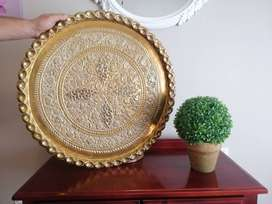 Brass large plate