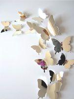 Зеркальные пластиковые бабочки 3D бабочки декор интерьера