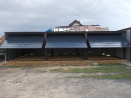 garaż blaszany garaze blaszane blaszak wiata 9x5 kolor bramy