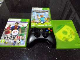 Xbox 360 controller with 3 games