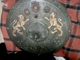 Копия щита 17 века,ковка, чернение, травление.