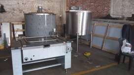 OIL JACKETED POTS,TANKS,TILTING PANS,THREE PLATE STOVES AND MIXERS FOR