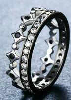 Кольцо корона посеребряное 925