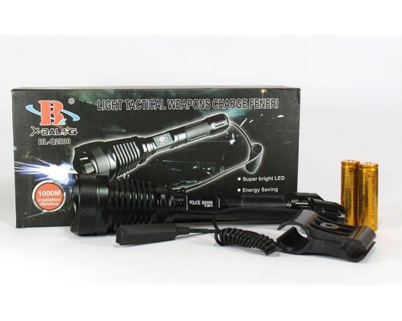 Тактический фонарь POLICE BL-Q2800 T6 150000W фонарик 1180 Lumen Сумы - изображение 6