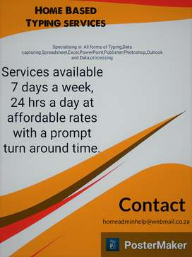 Home based admin services