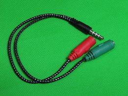 Аудиокабель.Переходник. Разветвитель для микрофона и наушников