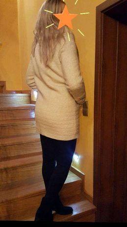 Ekskluzywna Kurtka płaszcz futerko Monnari futro płaszczyk kolor ecru Piekary Śląskie - image 2