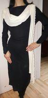 Elegancka sukienka, odkryte plecy-koraliki r.38-40