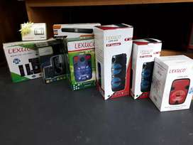 Assorted sound systems and bt speakers