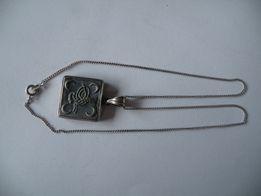 ladny srebrny lancuszek z wisiorkiem proba 925