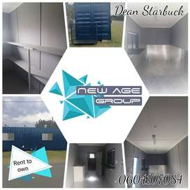 Rent to own customized , converted containers