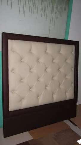 Headboard and a bed